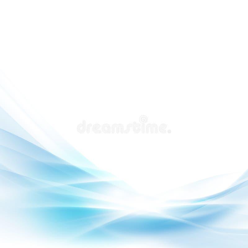 Abstrakta błękita fala rozciągnięty tło, wektor & ilustracja, royalty ilustracja