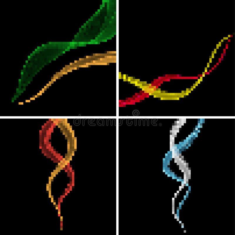 Abstrakta bakgrunder för PIXEL vektor illustrationer