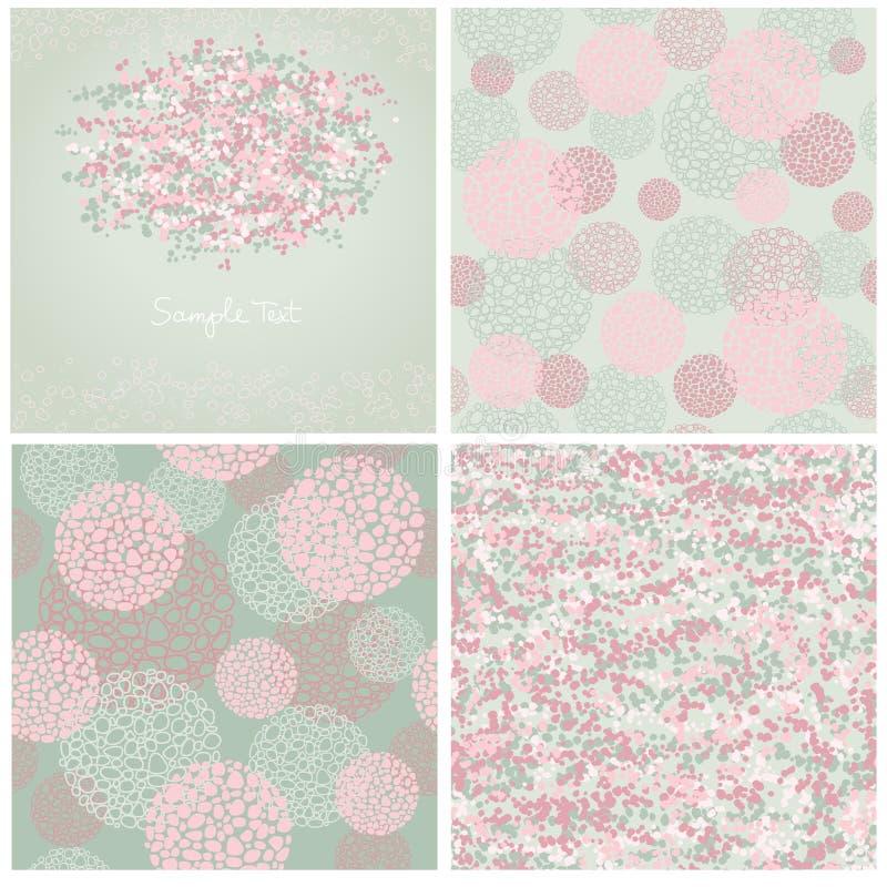 Abstrakta bakgrunder för uppsättning fyra av grå färgfärg royaltyfri illustrationer