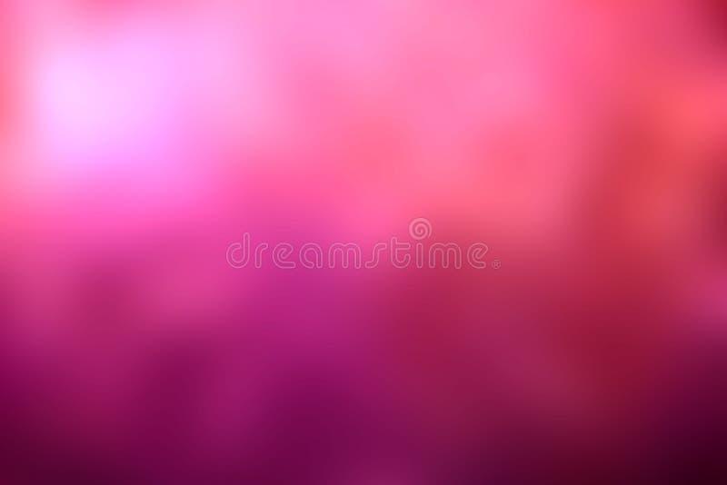 Abstrakta bakgrundsrosa färger och lilor färgar suddighetseffekt arkivfoton