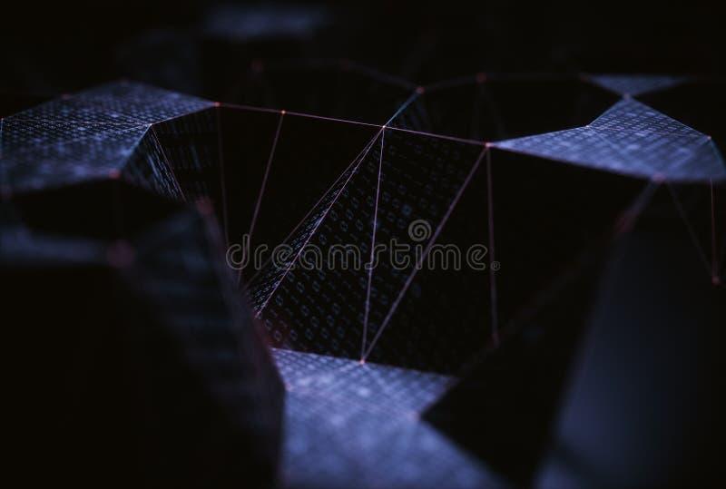 Abstrakta bakgrundsteknologianslutningar royaltyfri illustrationer