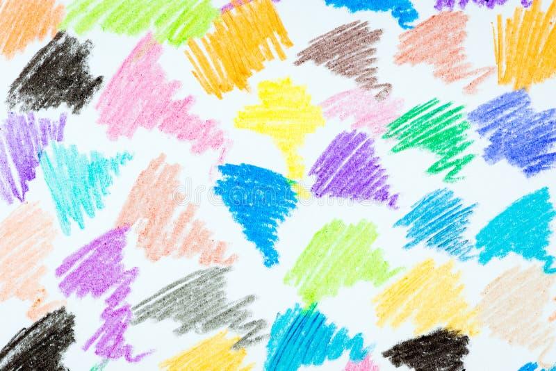Abstrakta barwiony ołówkowy tło zdjęcie stock
