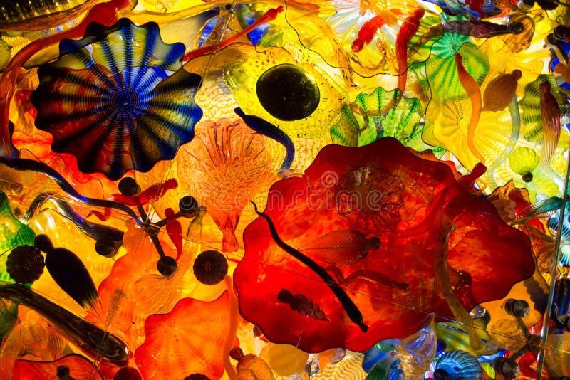 Abstrakta barwiony szkło obraz royalty free