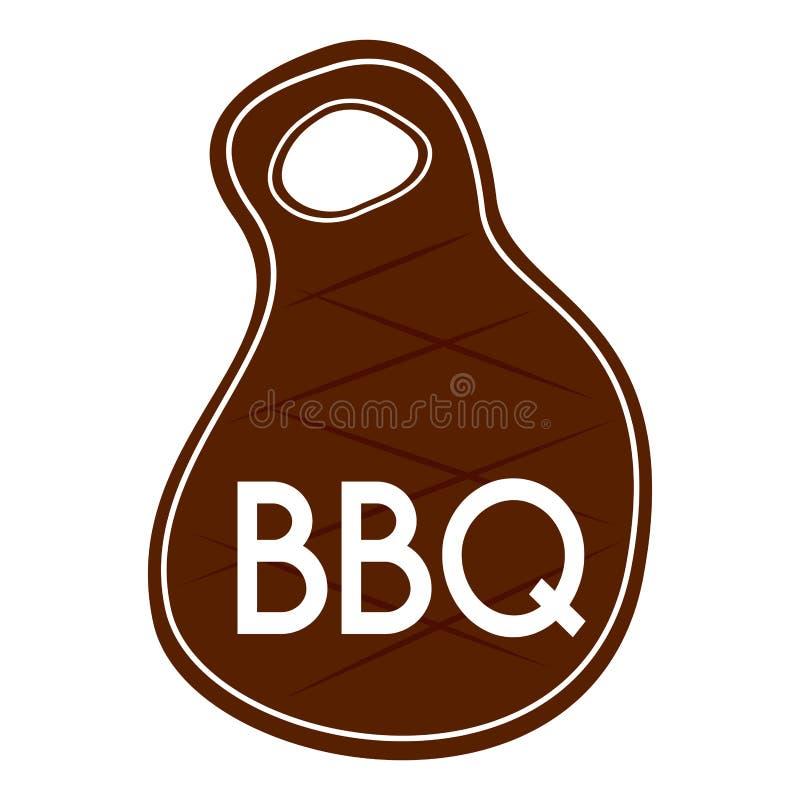 Abstrakta BBQ etykietka ilustracja wektor