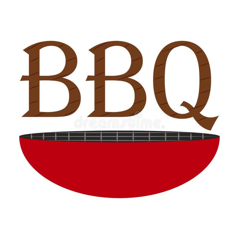 Abstrakta BBQ etykietka ilustracji