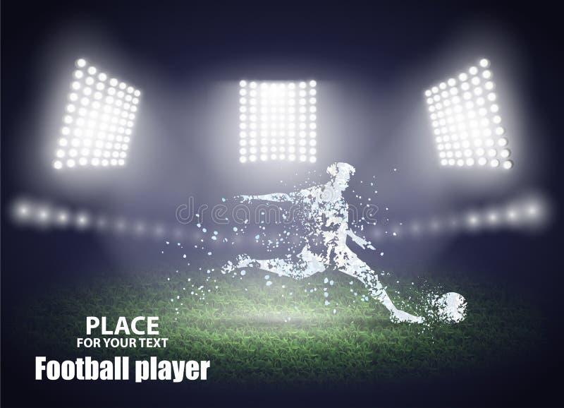 Abstrakta belysningbakgrunder för din design Rörelsedesign för eps-fotboll för 10 boll spelare för kick också vektor för coreldra stock illustrationer