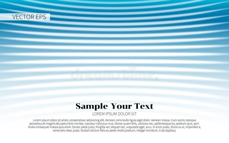 Abstrakta beståndsdelar för blåttvågdesign också vektor för coreldrawillustration modern abstrakt bakgrund royaltyfri illustrationer
