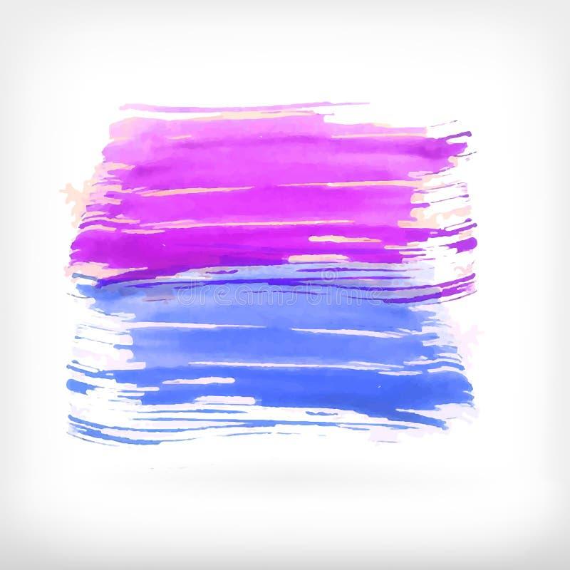 Abstrakta beståndsdelar för vattenfärgborstedesign royaltyfri illustrationer