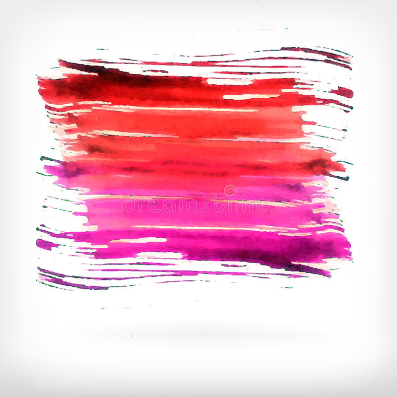 Abstrakta beståndsdelar för vattenfärgborstedesign stock illustrationer