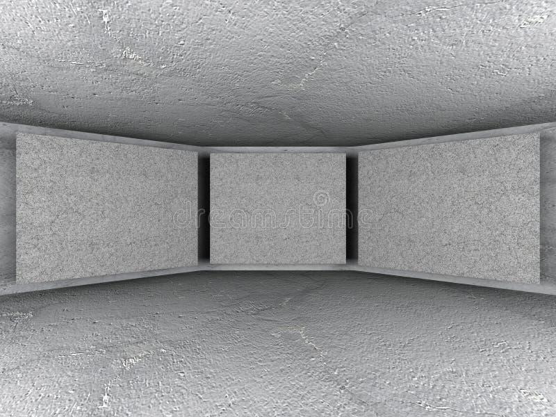 Download Abstrakta Betongväggar Tömmer Ruminre Arkitekturbackgr Stock Illustrationer - Illustration av form, lampa: 78729635
