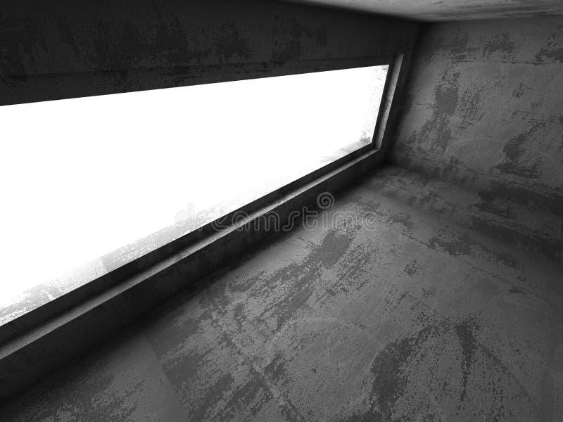 Abstrakta betonu pusty izbowy wnętrze Miastowy architektury backgr ilustracji