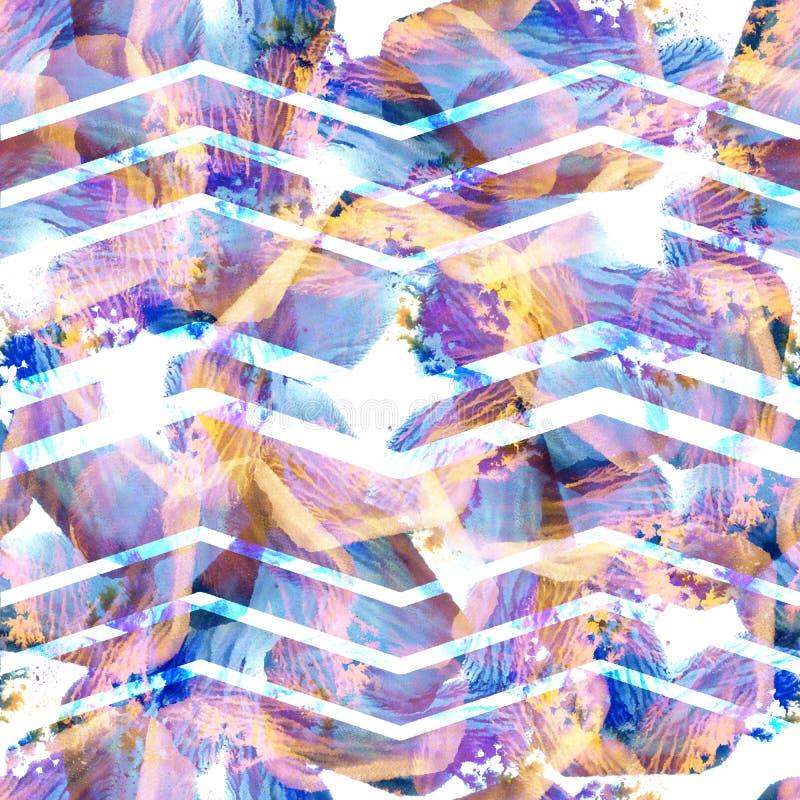abstrakta bezszwowy wzoru Batików cienie ilustracja wektor