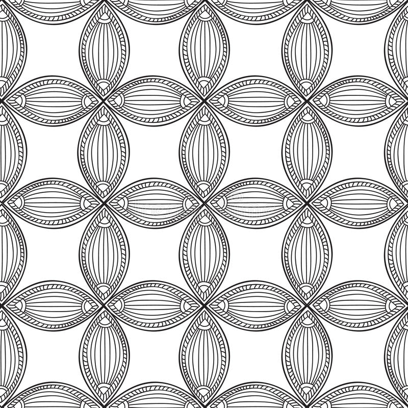 abstrakta bezszwowy wzoru Geometryczny ornamentacyjny kwiecisty backgroun royalty ilustracja