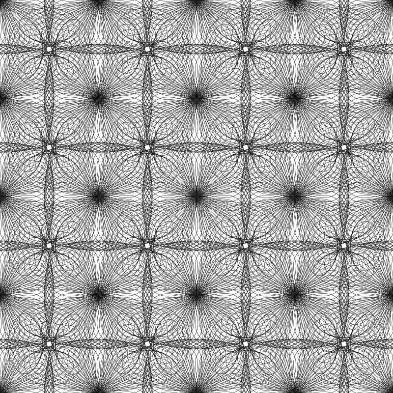 abstrakta bezszwowy wzoru Okręgi i spirale royalty ilustracja