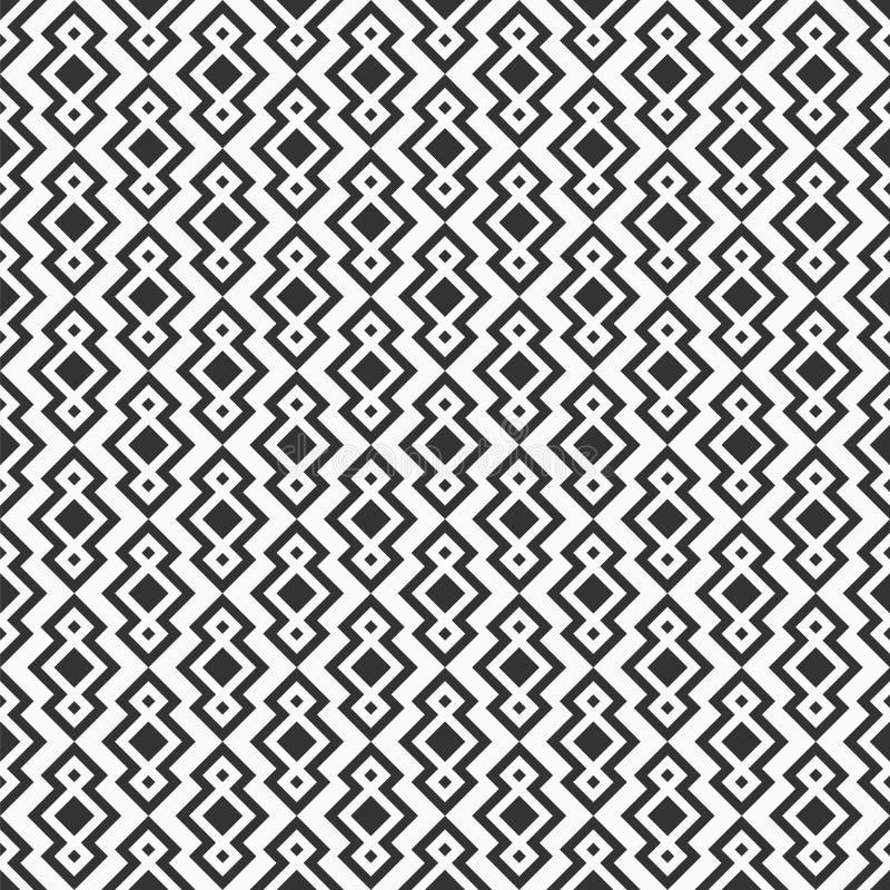 abstrakta bezszwowy wzoru Wielostrzałowy etniczny ornament z rhombuses royalty ilustracja