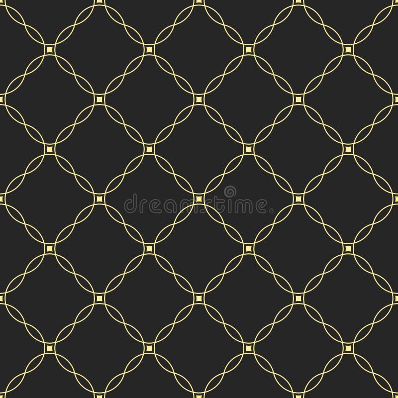 abstrakta bezszwowy wzoru Wielostrzałowy geometryczny ornament wyginać się linie i gładzi kwadraty royalty ilustracja