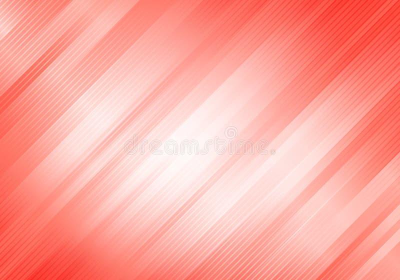 Abstrakta bielu i menchii koloru tło z diagonalnymi lampasami Geometryczny minimalny wz?r Ty możesz używać dla okładkowego projek royalty ilustracja