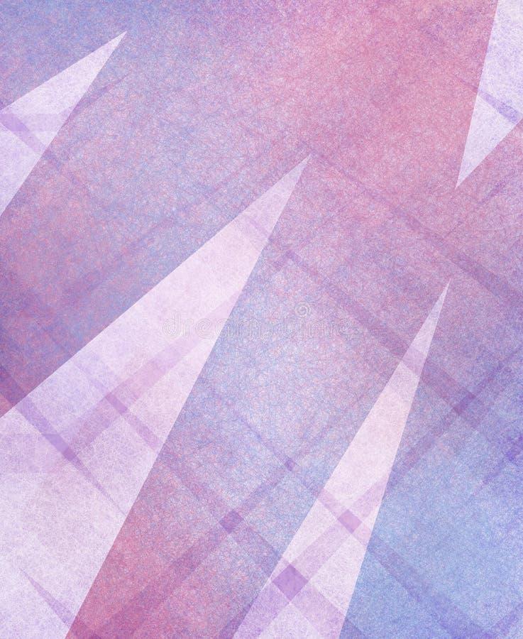 Abstrakta bielu i purpur różowy tło z kształtami ilustracja wektor