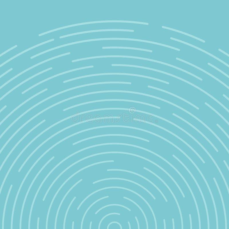 Abstrakta blåa cirklar rotera modelllinjer bakgrund stock illustrationer