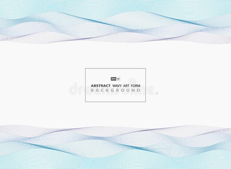 Abstrakta blåa krabba linjer bakgrund för havsmodelldesign Illustrationvektor eps10 royaltyfri illustrationer