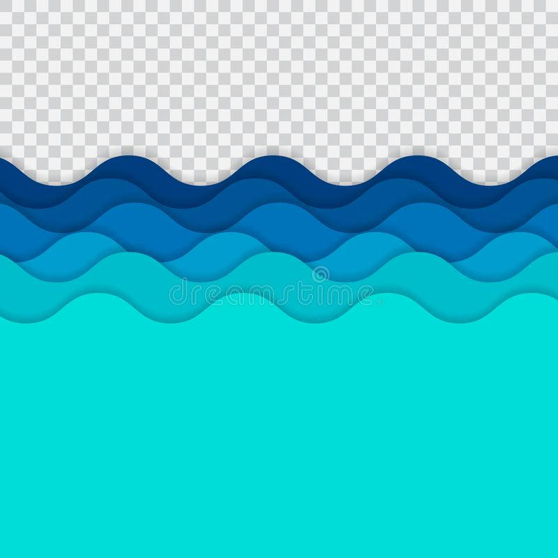 Abstrakta blålinjen vinkar, den krabba bandmodellen, grov yttersida, nolla royaltyfri illustrationer