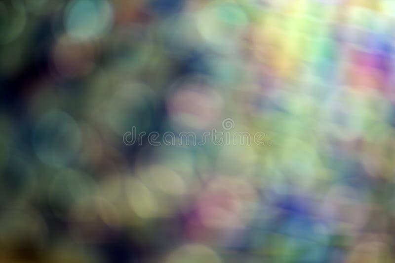 Abstrakta blått, lilor och gröna suddiga former och bandbokehtextur färgrik modellwallpaper arkivbilder