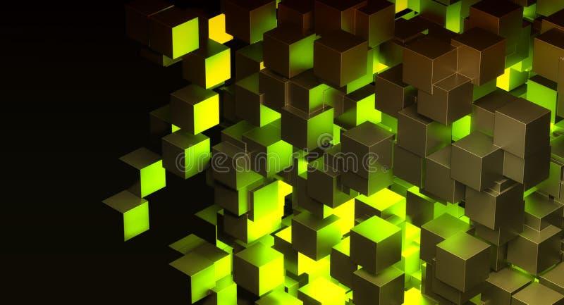 Abstrakta blokowy zielone światło royalty ilustracja