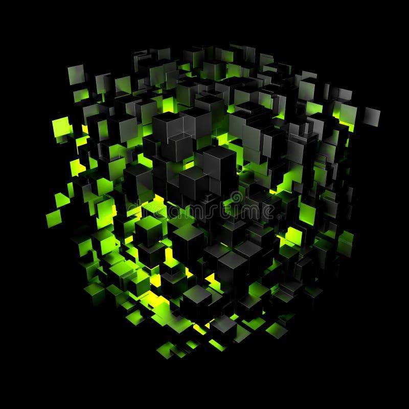 Abstrakta blokowy zielone światło ilustracja wektor