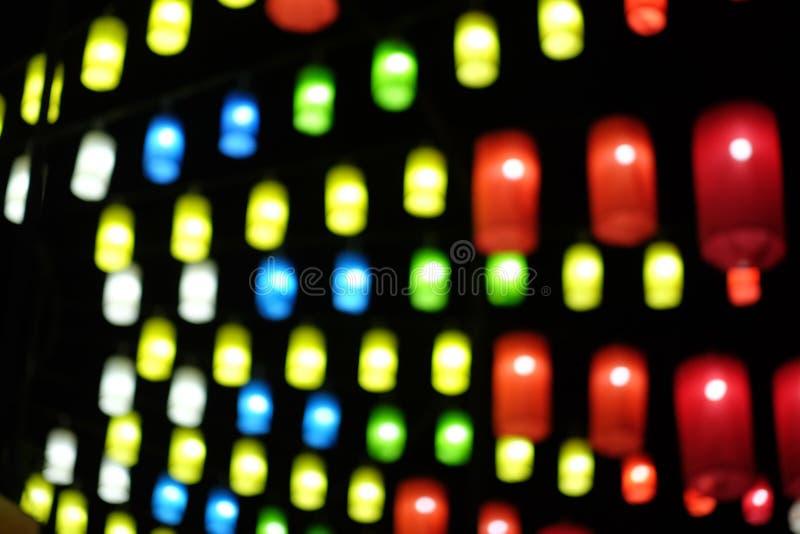 Abstrakta bokeh lekkiego tła czerwieni zieleni żółty błękit fotografia stock