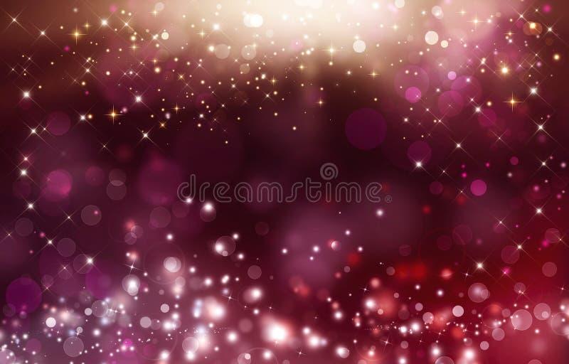 Abstrakta bokeh tła różowa plama Błyszcząca świąteczna ilustracja zdjęcie stock