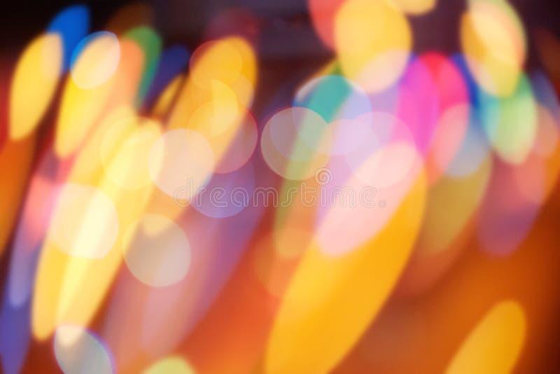 Abstrakta bokehcirklar linssignalljus och defocused suddighetsglöd arkivfoto