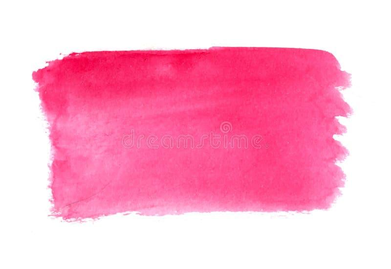 Abstrakta borsteslaglängder, rosa vattenfärgbakgrund stock illustrationer