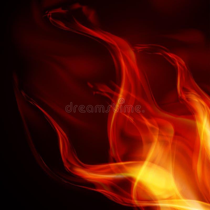 Abstrakta Brandflammor Royaltyfri Fotografi