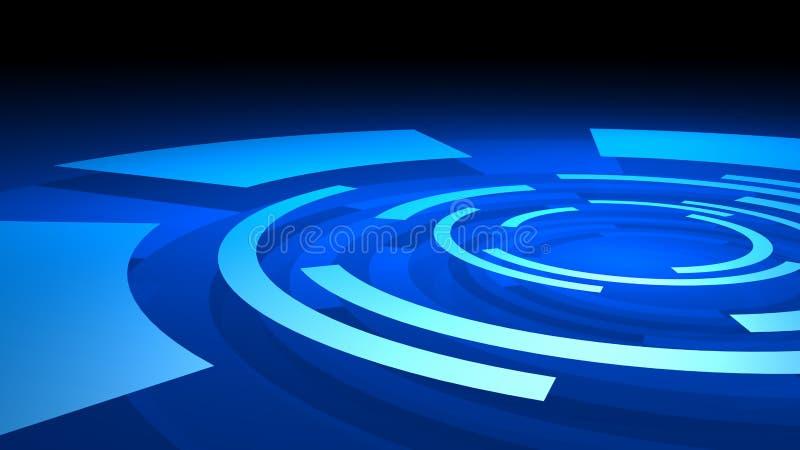 Abstrakta brutna cirklar vektor illustrationer