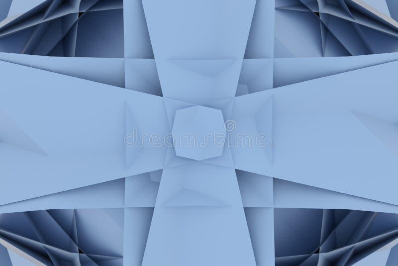 Abstrakta CGI, przypadkowy geometryczny tło Tapeta dla graficznego projekta 3 d czyni? royalty ilustracja