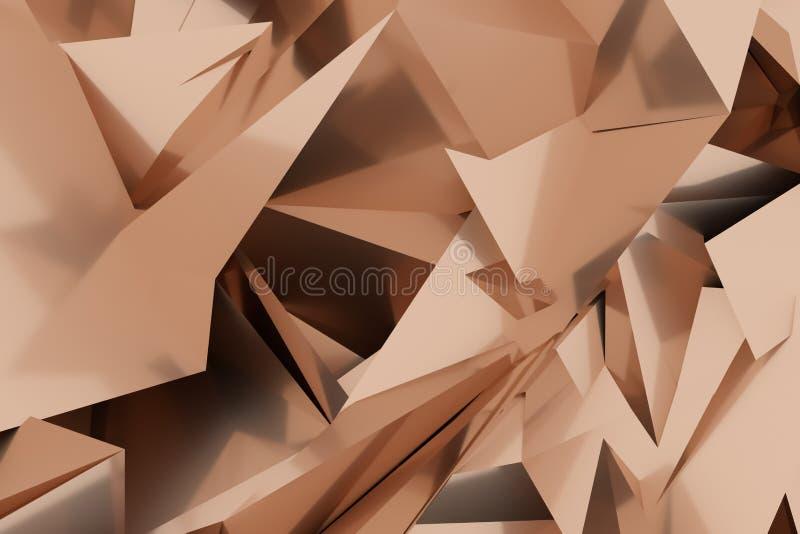 Abstrakta CGI, przypadkowy geometryczny t?o Tapeta dla graficznego projekta 3 d czyni? ilustracji