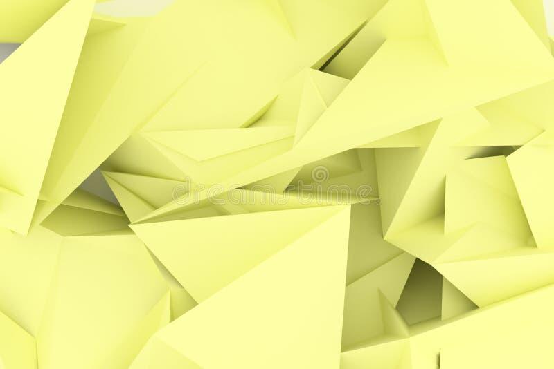 Abstrakta CGI, przypadkowy geometryczny t?o Tapeta dla graficznego projekta 3 d czyni? royalty ilustracja