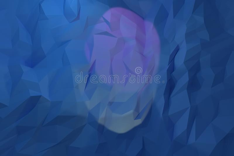 Abstrakta CGI, przypadkowy geometryczny t?o Tapeta dla graficznego projekta 3 d czyni? ilustracja wektor