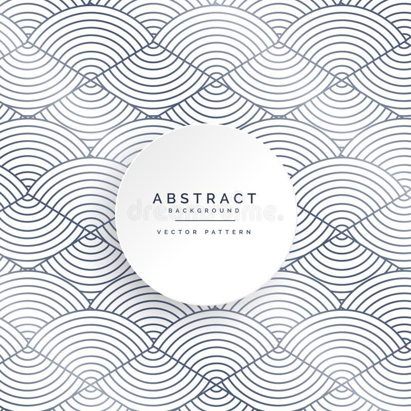 Abstrakta cirkellinjer vit modellbakgrund royaltyfri illustrationer