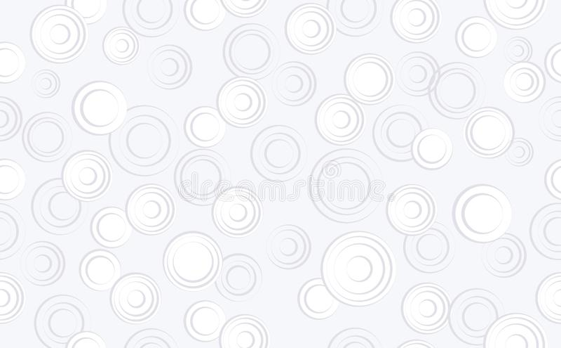 Abstrakta cirklar på isolerad blå bakgrund sömlös bakgrund med geometriska former, beståndsdelar Sammansättning för designen, ren stock illustrationer