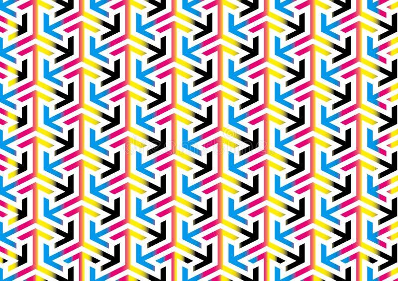 Abstrakta CMYK Aroows wzoru tła tekstury ilustracji