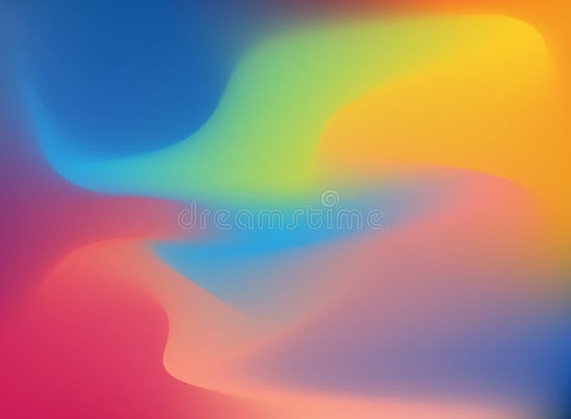 Abstrakta 3D dynamicznego skutka falowy kolorowy tło ilustracja wektor