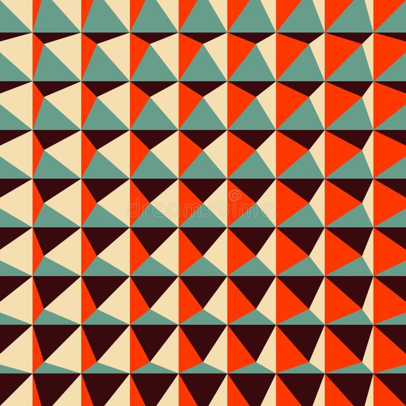 Abstrakta 3d geometryczny wzór poligonalny ilustracji