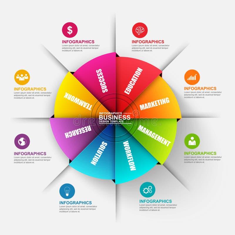 Abstrakta 3D origami cyfrowy biznesowy diagram Infographic royalty ilustracja
