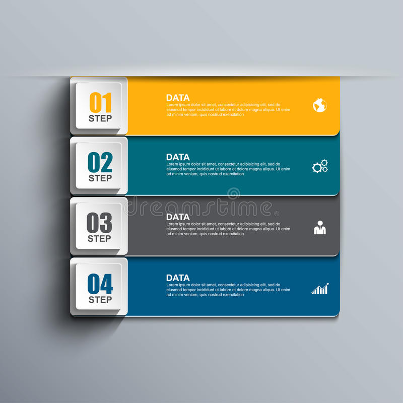 Abstrakta 3D papier Infographic royalty ilustracja