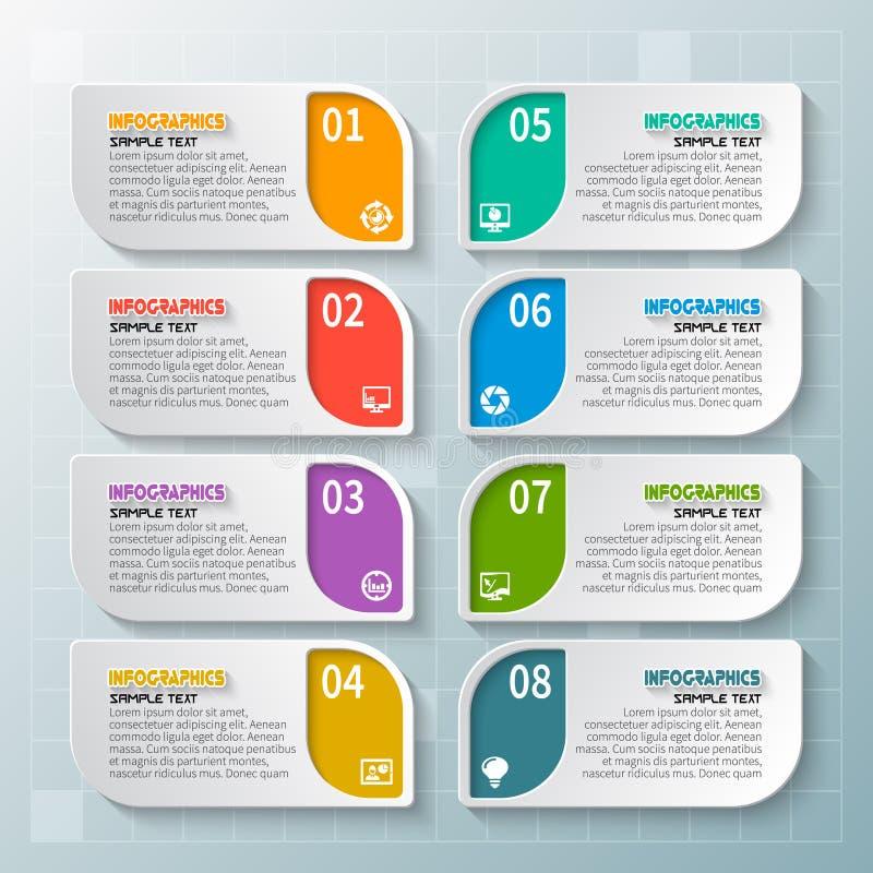 Abstrakta 3D papier Infographics ilustracja wektor