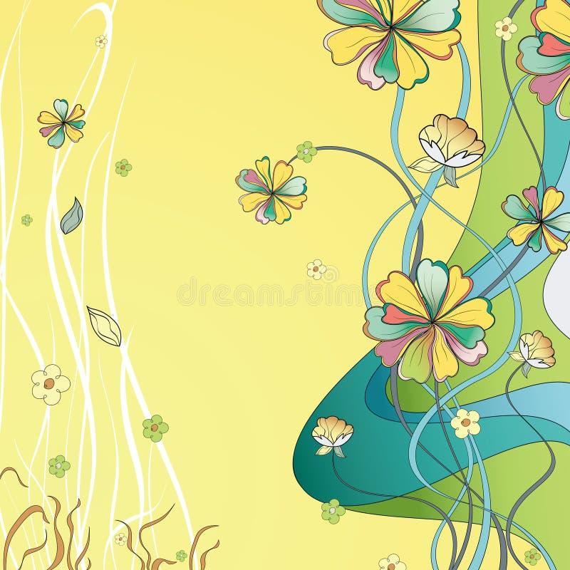 Abstrakta Daisy Flower Background stock illustrationer