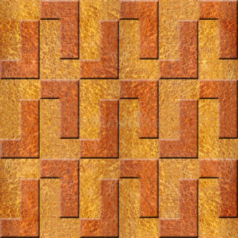 Abstrakta dekorativa kvarter - wood textur för Carpathian alm stock illustrationer