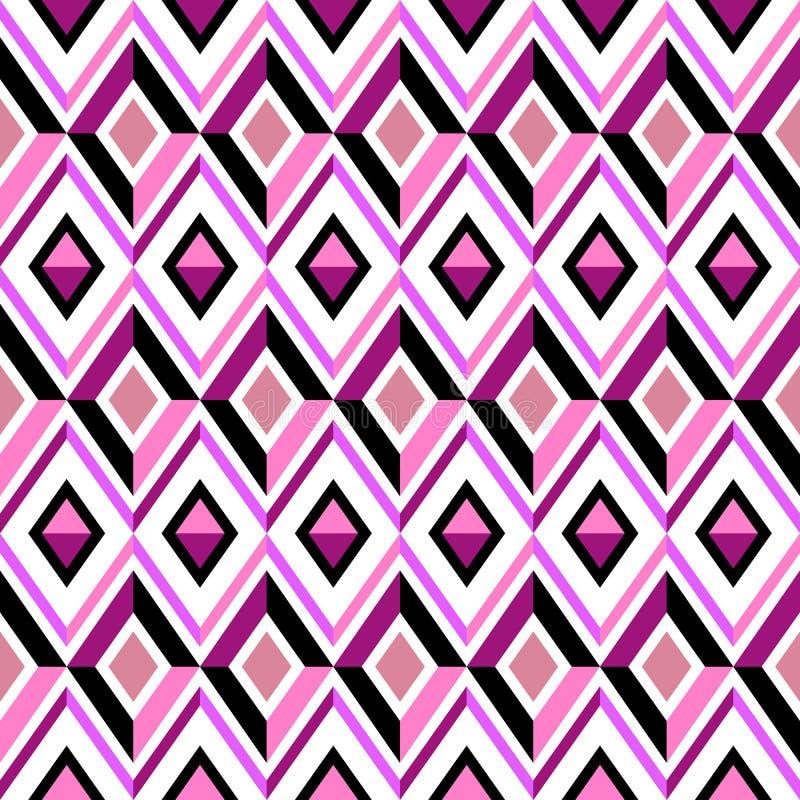 Abstrakta diamentu różowy wzór ilustracja wektor