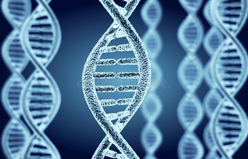 Abstrakta DNA spirala ilustracja wektor